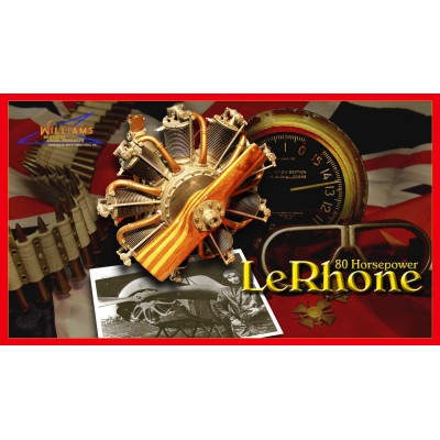 80 hp Le Rhone Rotary kit - 1/6 scale