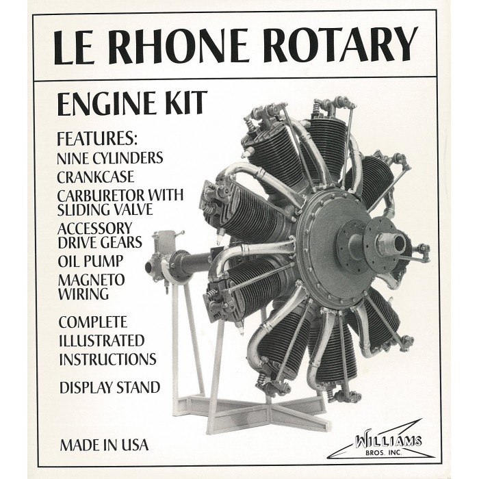 80 hp Le Rhone Rotary kit 1/8 scale