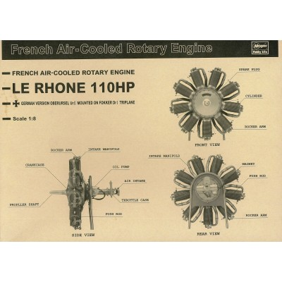 110 HP Le Rhone Rotary kit 1/8 scale