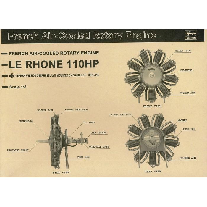 110 HP Le Rhone Rotary kit 1/8 scale