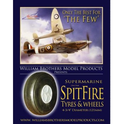 "Spitfire- 4-3/4"" Diameter  4 spoke style"